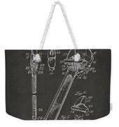 1915 Wrench Patent Artwork - Gray Weekender Tote Bag