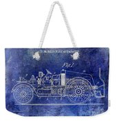 1916 Automobile Fire Apparatus Patent Drawing Lt Blue Weekender Tote Bag