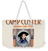1917 - Camp Custer March One Step Sheet Music - Edward Schroeder - Color Weekender Tote Bag