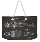 1917 Glenn Curtiss Aeroplane Patent Artwork 2 - Gray Weekender Tote Bag