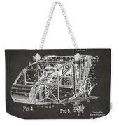 1917 Glenn Curtiss Aeroplane Patent Artwork 3 - Gray Weekender Tote Bag