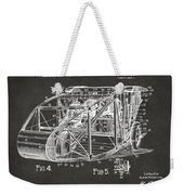 1917 Glenn Curtiss Aeroplane Patent Artwork 3 - Gray Weekender Tote Bag