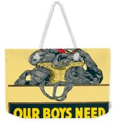 1918- Red Cross Poster - World War One - Color Weekender Tote Bag