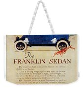 1919 - Franklin Sedan Advertisement - Color Weekender Tote Bag