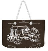 1919 Henry Ford Tractor Patent Espresso Weekender Tote Bag by Nikki Marie Smith