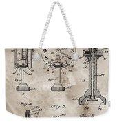 1920 Clock Patent Weekender Tote Bag