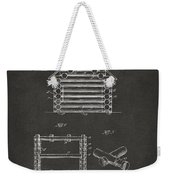 1920 Lincoln Log Cabin Patent Artwork - Gray Weekender Tote Bag by Nikki Marie Smith