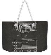 1920 Lincoln Logs Patent Artwork - Gray Weekender Tote Bag