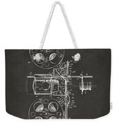 1920 Motion Picture Machine Patent Gray Weekender Tote Bag