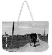 1920s 1930s Amish Man Driving Buggy Weekender Tote Bag