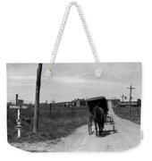 1920s 1930s Amish Man Driving Buggy Weekender Tote Bag