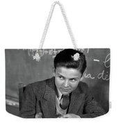 1920s 1930s Boy At Desk In Classroom Weekender Tote Bag