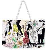 1920s Party Weekender Tote Bag