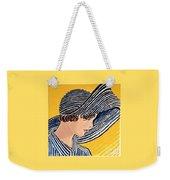 1920s Sun Hat Weekender Tote Bag