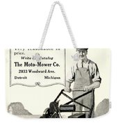 1921 - Moto Mower Lawnmower Advertisement Weekender Tote Bag