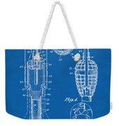 1921 Explosive Missle Patent Minimal Blueprint Weekender Tote Bag by Nikki Marie Smith