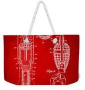1921 Explosive Missle Patent Minimal Red Weekender Tote Bag