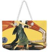 1922 - Columbia Gramophone Company Italian Advertising Poster - Color Weekender Tote Bag