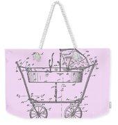 1922 Baby Carriage Patent Art Pink Weekender Tote Bag