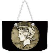 1922 Circulated Peace Dollar Weekender Tote Bag