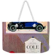 1922 - Cole 890 - Advertisement - Color Weekender Tote Bag