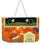 1923 - Cole Royal Sedan - Advertisement - Color Weekender Tote Bag