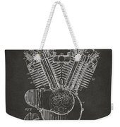 1923 Harley Engine Patent Art - Gray Weekender Tote Bag