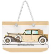 1923 Hispano Suiza Club Sedan By R.h.dietrich Weekender Tote Bag