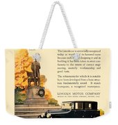 1924 - Lincoln Automobile - Color Weekender Tote Bag