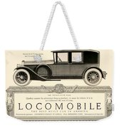 1924 - Locomobile Victoria Sedan Automobile Advertisement Weekender Tote Bag