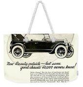 1924 - Oldsmobile Six Automobile Advertisement Weekender Tote Bag