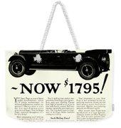 1924 - Paige Automobile Advertisement Weekender Tote Bag