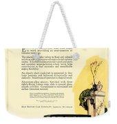 1924 - Reo Six Automobile Advertisement - Color Weekender Tote Bag