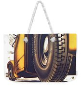 1924 - Dunlop Tires French Advertisement Poster - Color Weekender Tote Bag
