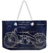 1924 Harley Davidson Motorcycle Patent  Weekender Tote Bag