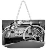 1925 Aston Martin 16 Valve Twin Cam Grand Prix Steering Wheel -0790bw Weekender Tote Bag