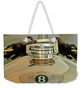1925 Bentley 3-liter 100mph Supersports Brooklands Two-seater Radiator Cap Weekender Tote Bag by Jill Reger