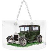 1926 Ford Tudor Sedan Street Rod Weekender Tote Bag