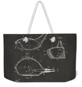 1926 Golf Club Patent Artwork - Gray Weekender Tote Bag