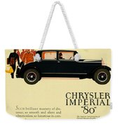 1927 - Chrysler Imperial Model 80 Automobile Advertisement - Color Weekender Tote Bag
