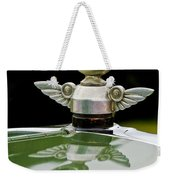 1927 Chandler 4-door Hood Ornament Weekender Tote Bag by Jill Reger