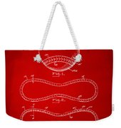 1928 Baseball Patent Artwork Red Weekender Tote Bag