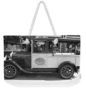 1928 Chevy Half Ton Pick Up In Black And White Weekender Tote Bag