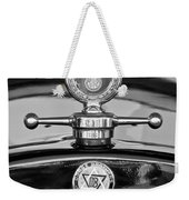 1928 Dodge Brothers Hood Ornament - Moto Meter Weekender Tote Bag by Jill Reger