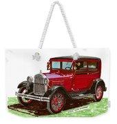 1928 Ford Model A Two Door Weekender Tote Bag