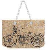 1928 Harley Davidson Motorcyle Patent Illustration Weekender Tote Bag