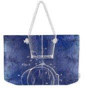 1928 Milk Pail Patent Drawing Blue Weekender Tote Bag