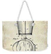 1928 Milk Pail Patent Drawing Weekender Tote Bag