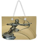 1928 Pierce Arrow Helmeted Archer Hood Ornament Weekender Tote Bag