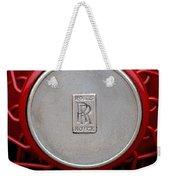1928 Rolls-royce Phantom I Sedenca De Ville Wheel Emblem Weekender Tote Bag